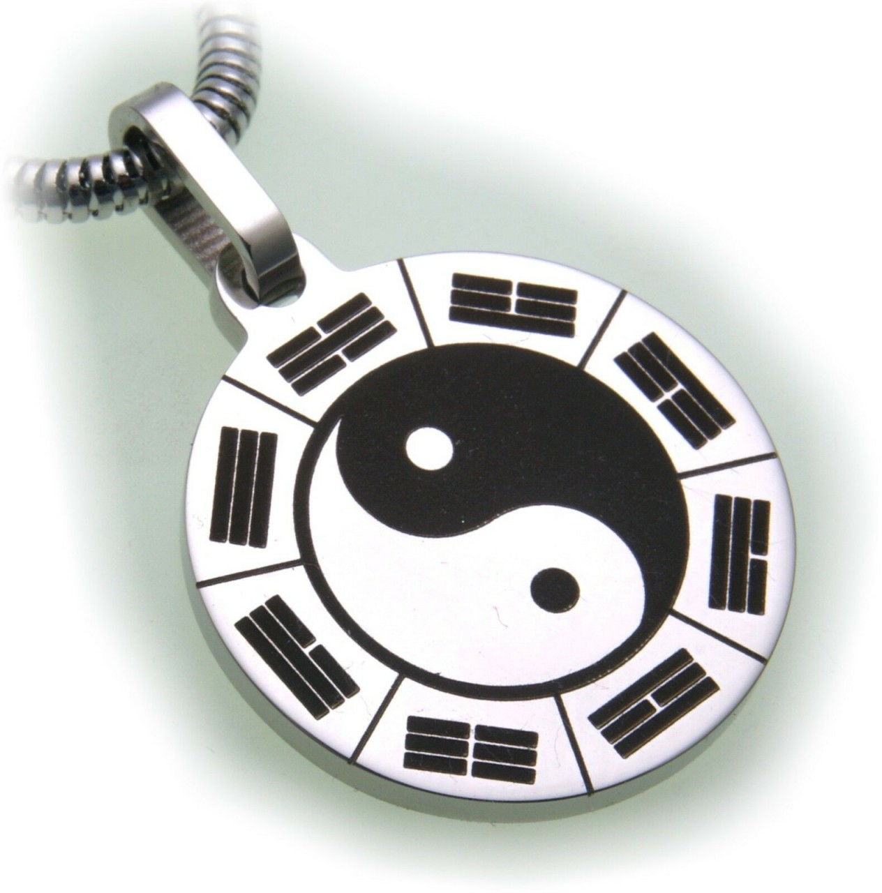 Anhänger Yin Yang Edelstahl schwarz weiß Hardwear by Landmesser Qualität Yang