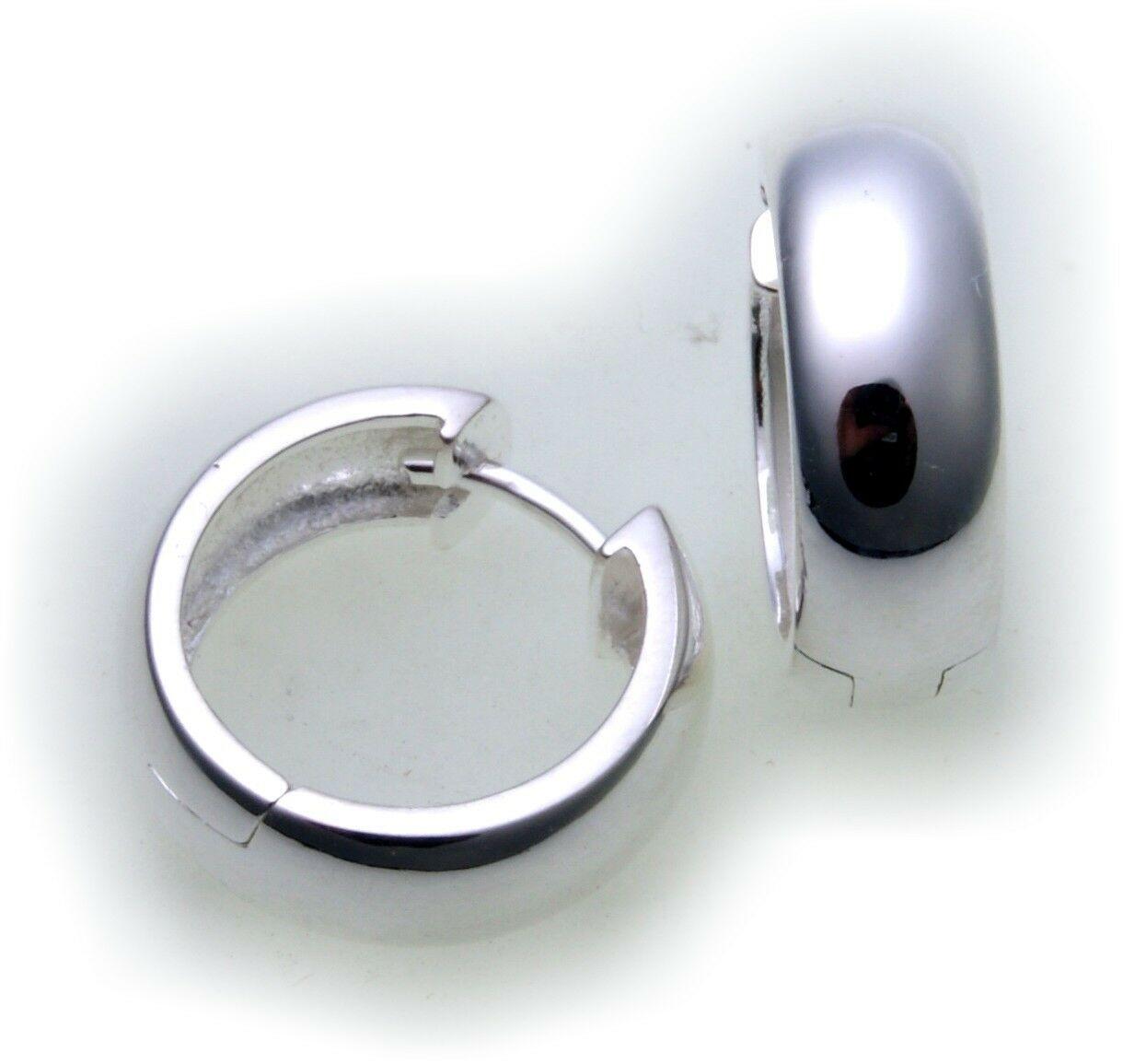 Top Ohrringe Klapp Creolen echt Silber 925 Sterlingsilber 16 mm Klappcreolen Neu