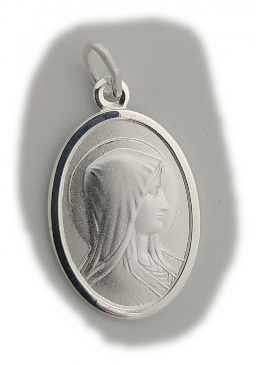 Anhänger Madonna echt Silber 925 22 x 15 mm Maria Jesus Qualität Sterlingsilber