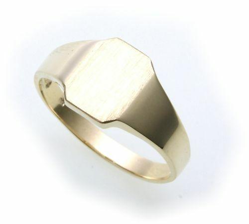 Herren Ring echt Gold 585 mit Monogrammgravur Gelbgold Qualität
