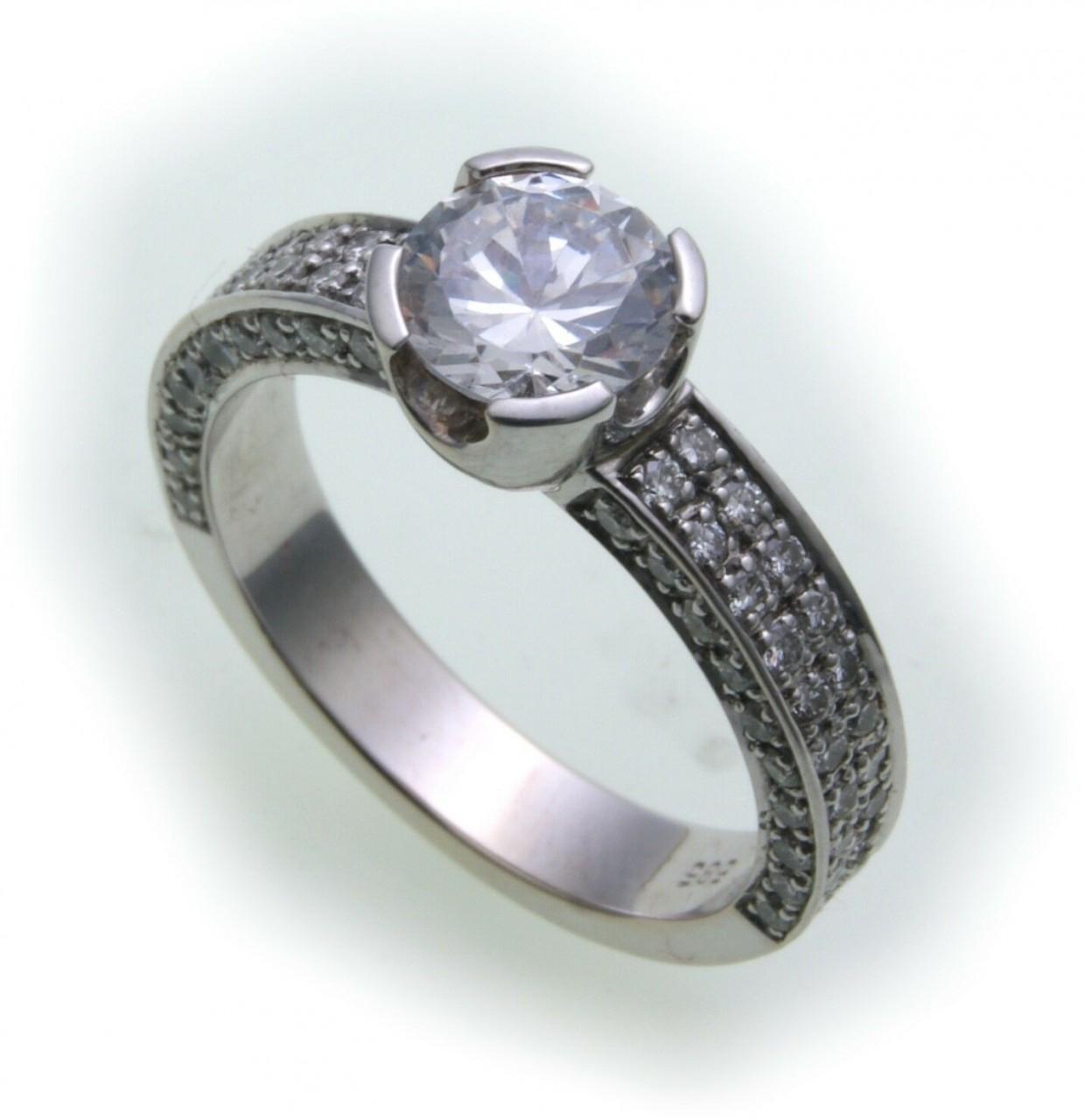 Damen Ring Brillant 1,80 c Diamant si echt Weißgold 750 18kt 1,0 ct Solitär Gold