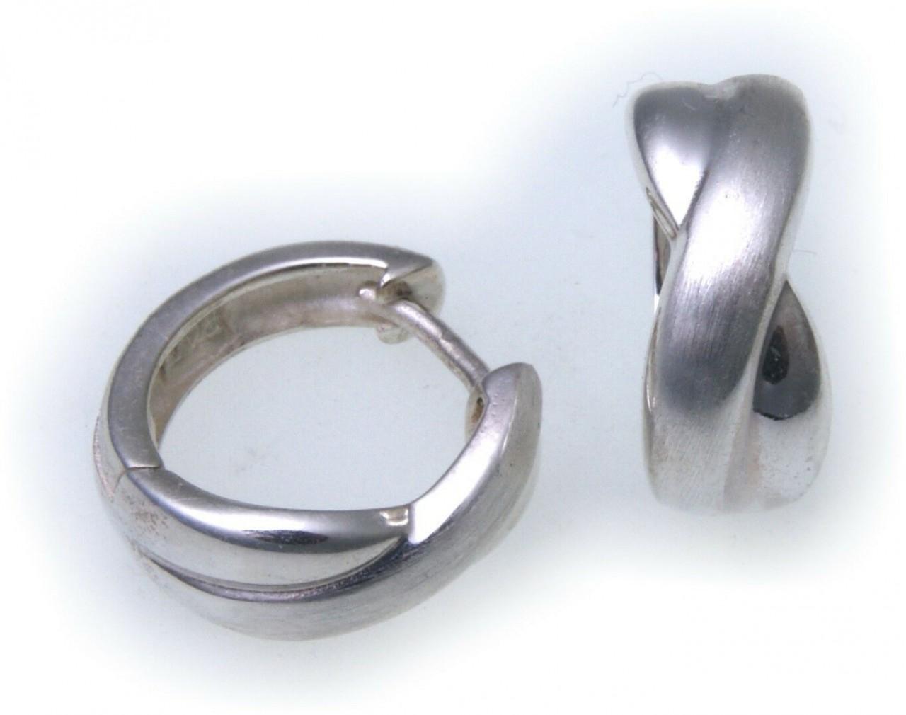 Damen Ohrringe Klapp Creolen Silber 925 Sterlingsilber Klappcreolen Ohrschmuck