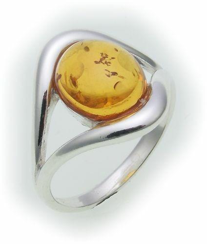 Damen Ring echt Bernstein aus der Ostsee echt Silber 925 Sterlingsilber AB16