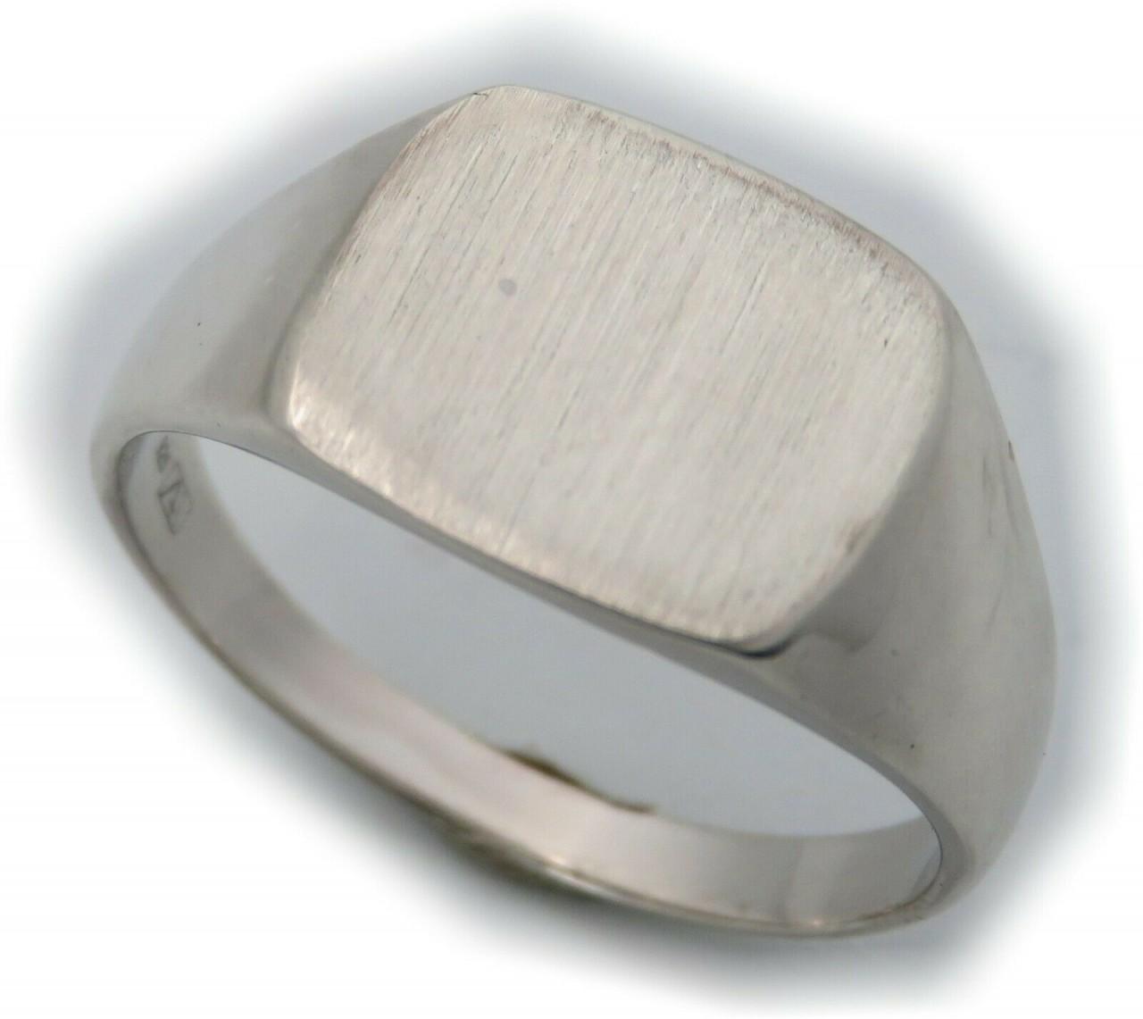 Neu Herren Ring Rechteck Silber 925 Monogrammgravur Sterlingsilber Siegelring