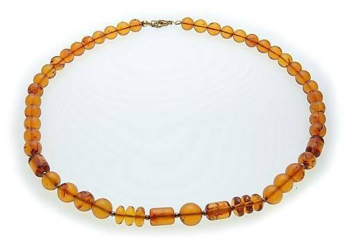 Hals Kette echter Bernstein aus der Ostsee Collier Damen Halskette Qualität BL15
