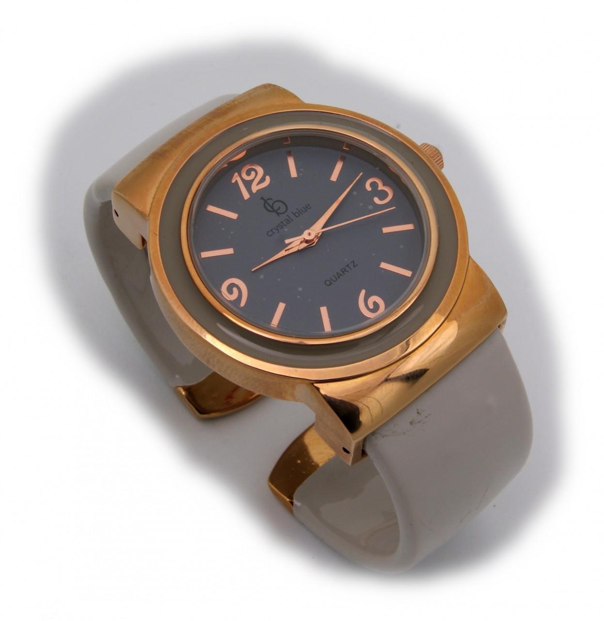 Neu exklusive Damen Uhr rose verg. grau Quarz Spangenuhr Spange Damenuhr