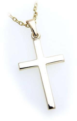 Anhänger Kreuz echt Gold 585 poliert 32 mm günstig Gelbgold Unisex