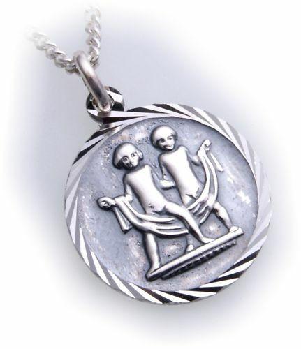 Anhänger Sternzeichen Zwilling echt Silber 925 mt Kette Horoskop Sterlingsilber
