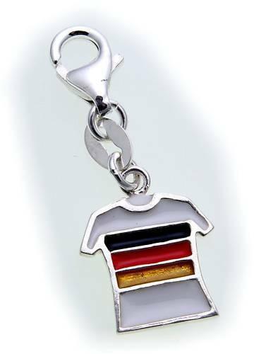 Charm Fußball Trikot Deutschland Silber 925 Einhänger Sterlingsilber Qualität
