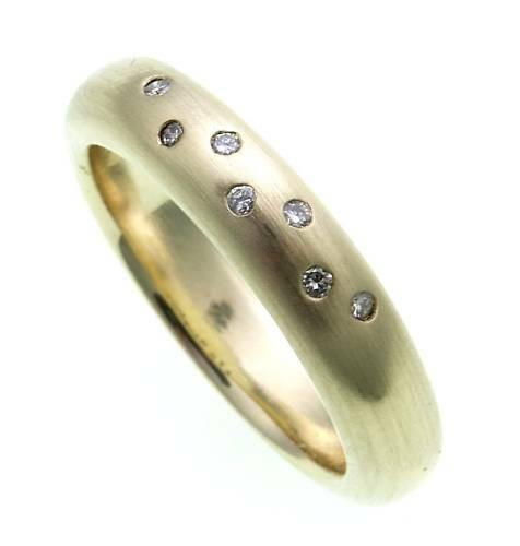 Damen Ring Brillant 0,08ct echt Gold 585 massiv Gelbgold Qualität SI