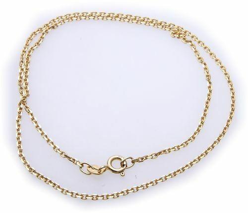 Collierkette in Gold 333 stabile Ankerkette 42cm diam Gelbgold Damen