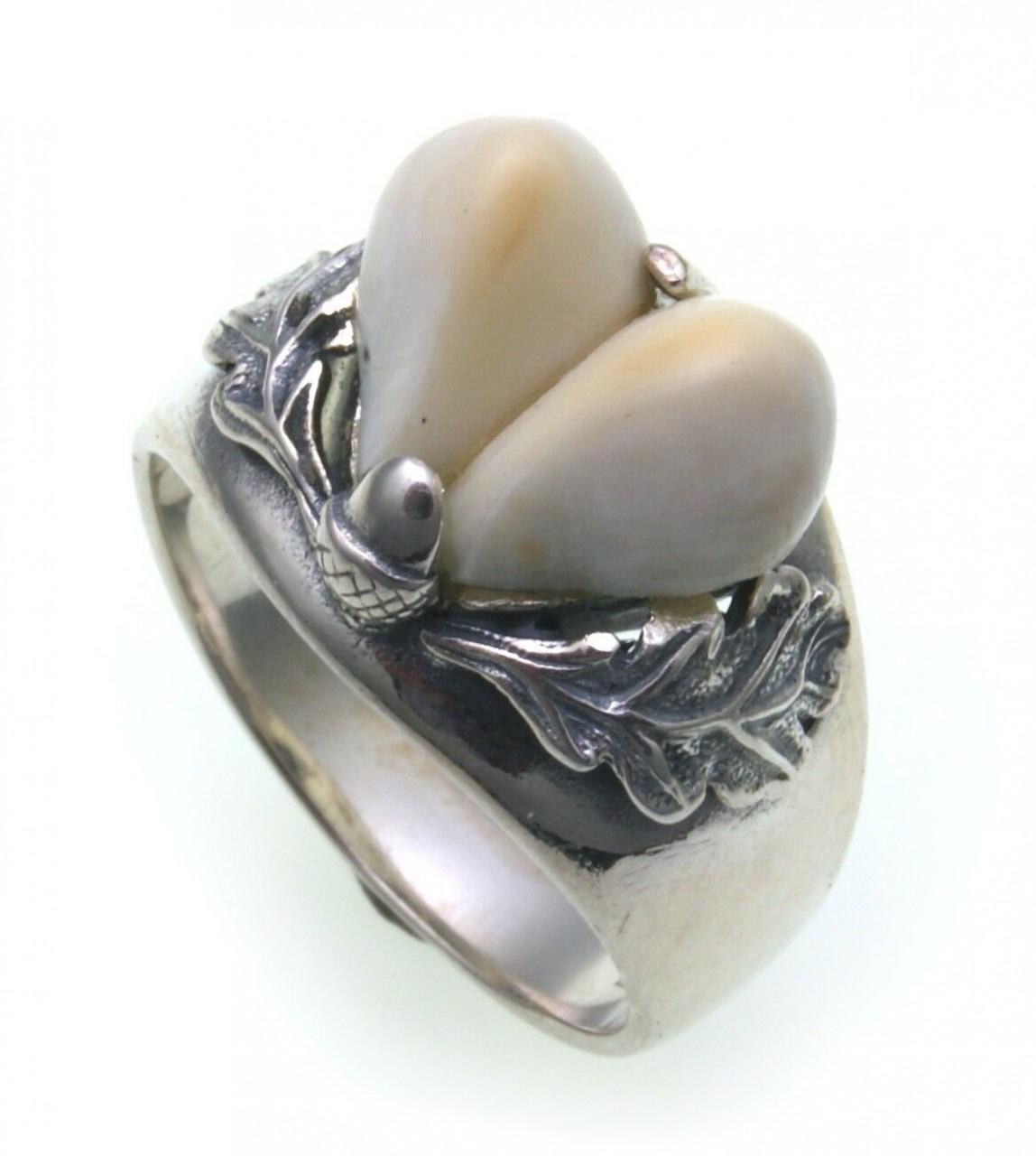 Grandel Ring Silber 925 Jagdschmuck Sterlingsilber Grandelschmuck Grandelring