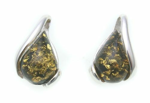 Ohrringe Stecker Bernstein echt Silber 925 Sterlingsilber Neu Qualität
