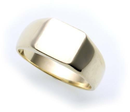 Herren Ring echt Gold 333 mit Monogrammgravur massiv Gelbgold Qualität