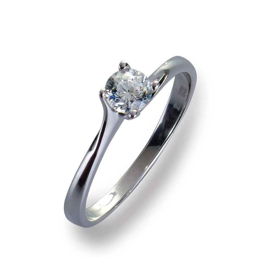 Damenring Ring Weißgold 585 Brillant 0.30 ct. Gold Diamant Viola Luxury