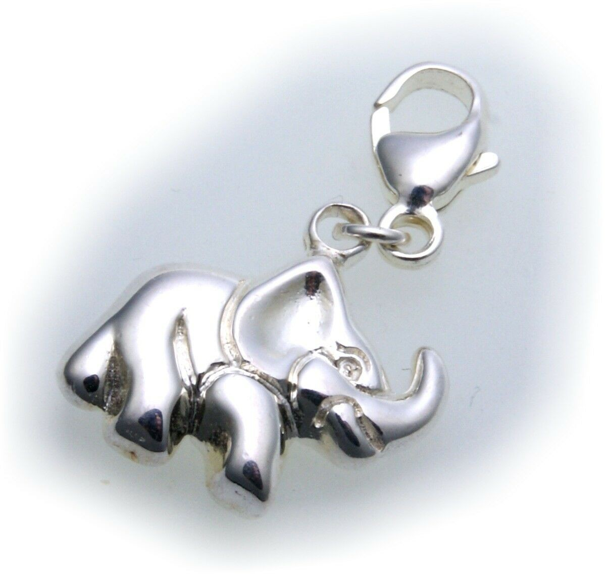 Anhänger Charm Elefant echt Silber 925 Bettelarmband Sterlingsilber Qualität