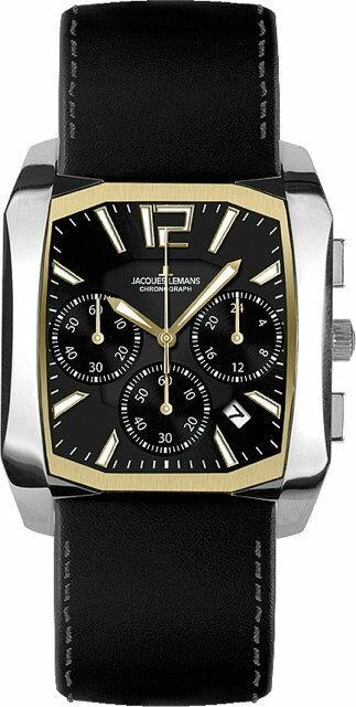 Jacques Lemans Dublin Damen Uhr Classic Chronograph 1-1532 Datumsanzeige
