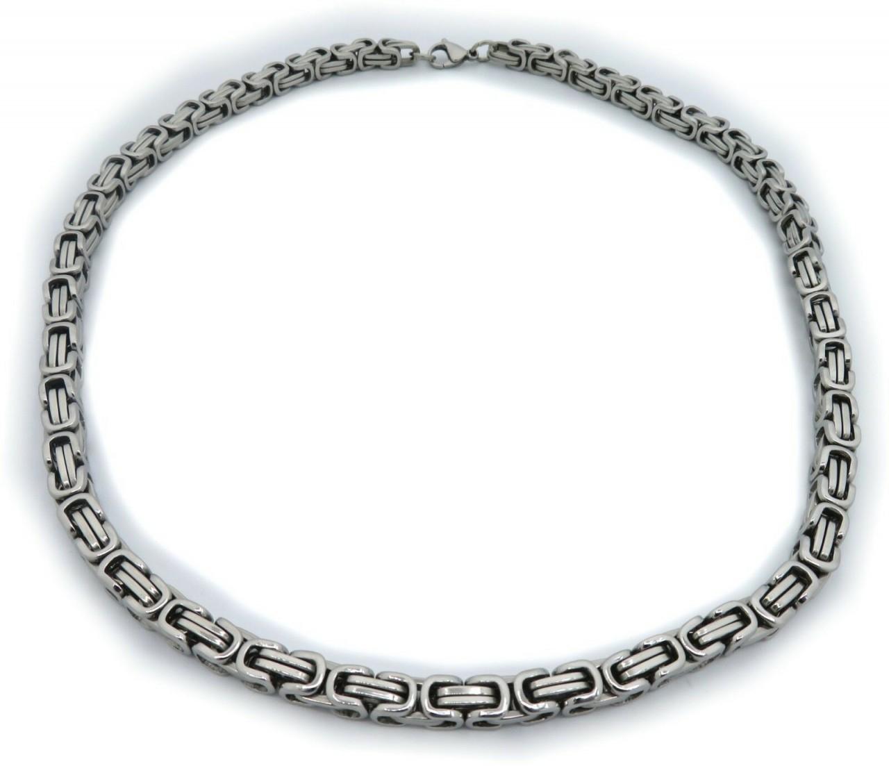 Neu schwere Halskette XL Edelstahl Kette 55 cm Königskette Top Qualität Herren