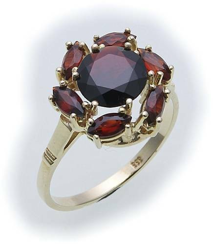 Damen Ring m. Granat in Silber 925 Granatring Sterlingsilber Qualität 8525/8GR