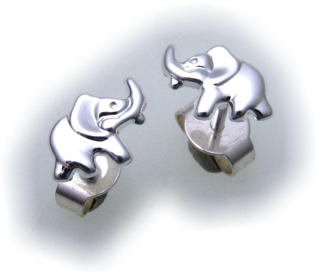Ohrringe Stecker Elefant Silber 925 Kinderohrringe Sterlingsilber Kinder
