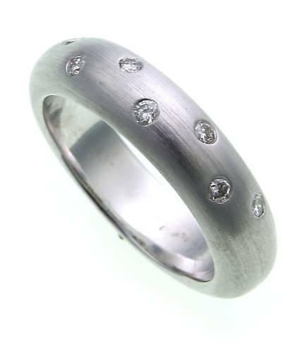 Damen Ring Brillant 0,14ct echt Weißgold 585 massivGold 585er- SI Diamant