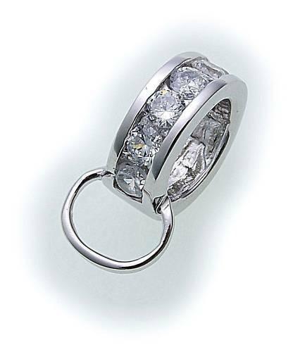 Anhänger f. Charms echt Silber 925 Zirkonia Charm Sterlingsilber