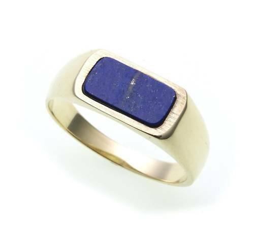 Herren Ring echt Gold 585 echt Lapis alle Steine mögl. Gelbgold Qualität