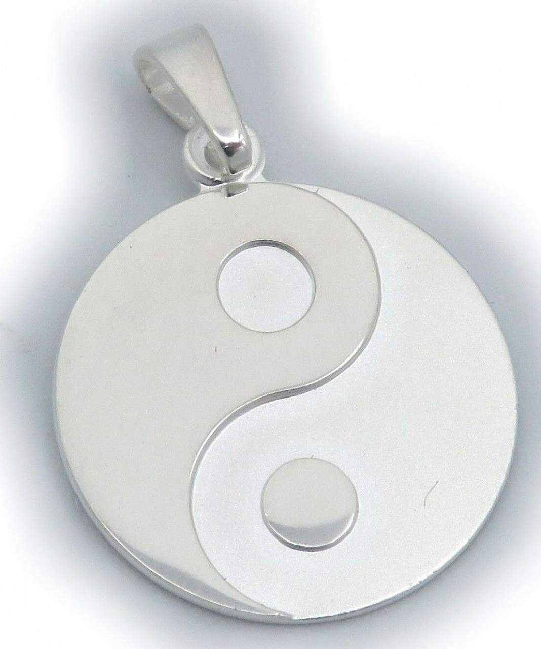 Anhänger Yin Yang echt Silber 925 Ying Yang teilmatt Sterlingsilber