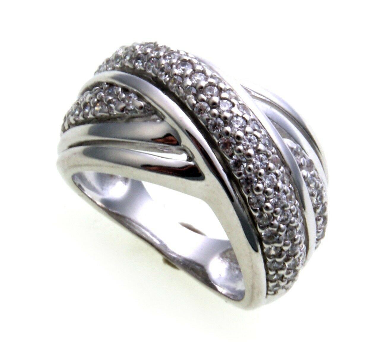 edler Damen Ring echt Silber 925 Zirkonia weiß Sterlingsilber Qualität