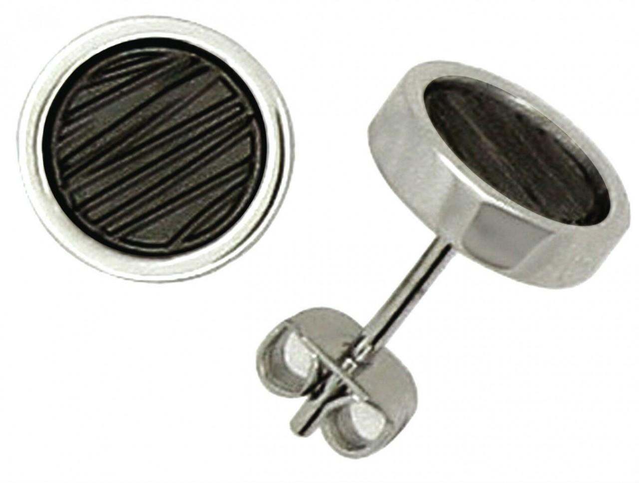 Ohrringe Stecker rund aus Edelstahl IPB Ohrstecker Hardwear by Landmesser Neu