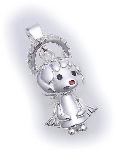 Silber 925 Anhänger Engel mit Zirkonia Sterlingsilber Qualität Neu