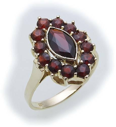 Damen Ring m. Granat in Silber 925 Granatring Sterlingsilber Qualität 8998/8GR