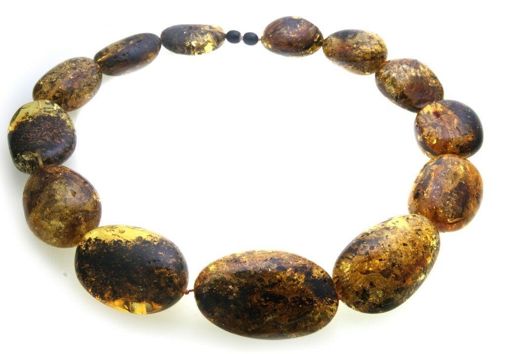 Hals Kette echter Bernstein aus der Ostsee groß Collier Damen Halskette