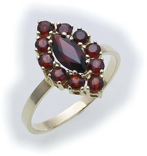 Damen Ring m. Granat in Silber 925 Granatring Sterlingsilber Qualität 8315/8GR