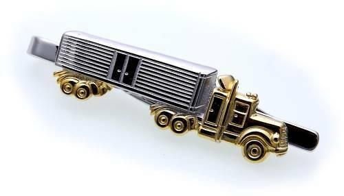 Krawattenhalter LKW Sattelzug echt Silber 925 Sterlingsilber Qualität