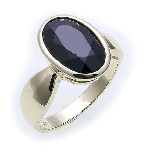 Damen Ring m. Granat in Gold 585 Granatring Gelbgold Qualität 8090/5GR