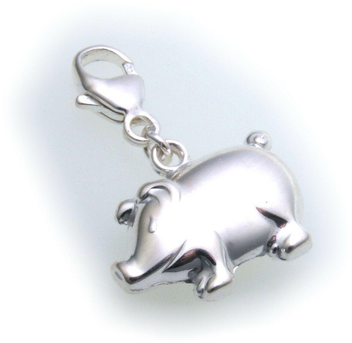 Charm Schwein echt Silber 925 Bettelarmband Charms Sterlingsilber Qualität