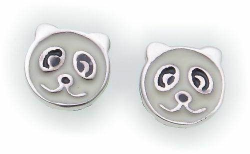 Ohrringe Stecker Panda Bär Silber 925 Ohrstecker Sterlingsilber Kinder