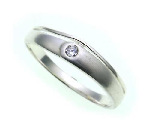 Kinder Ring echt Silber 925 mit 1 Zirkonia matt Kinderring Sterlingsilber
