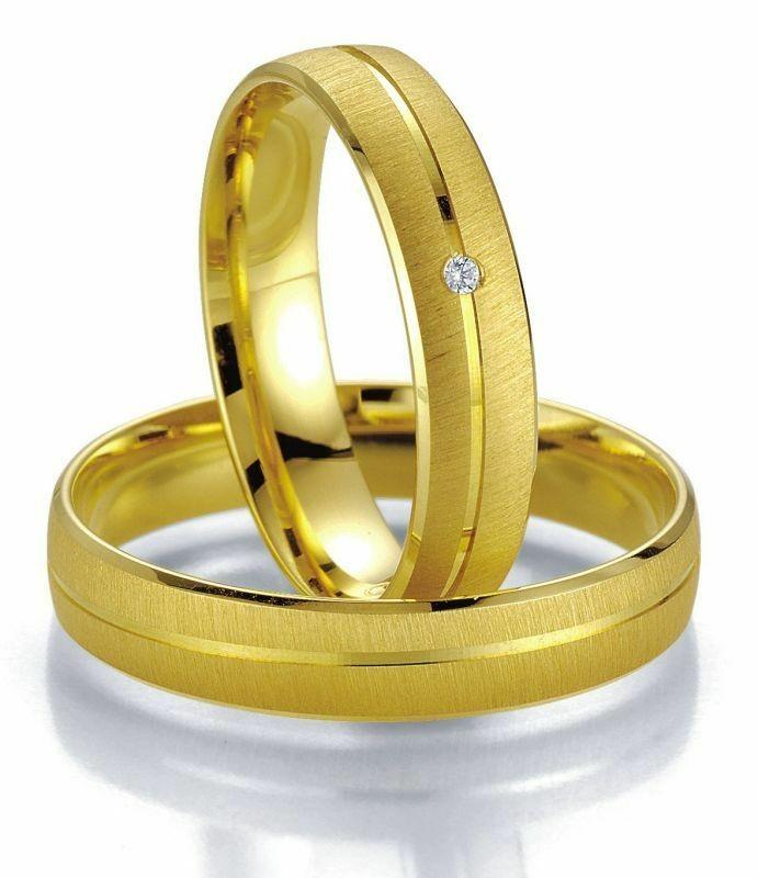 Trauringe Breuning Smartline Collection 7009/7010 in 585 Gold 14 kt
