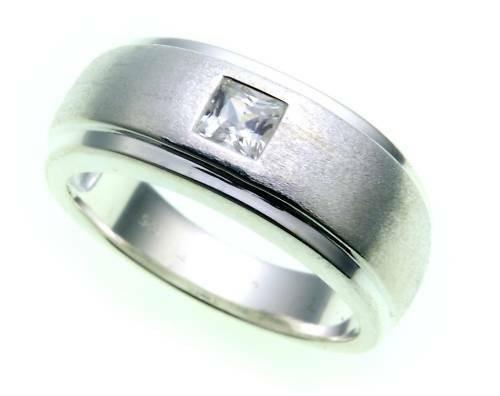 Damen Ring echt Silber 925 Zirkonia teilmattiert Sterlingsilber Qualität Z1020 Z