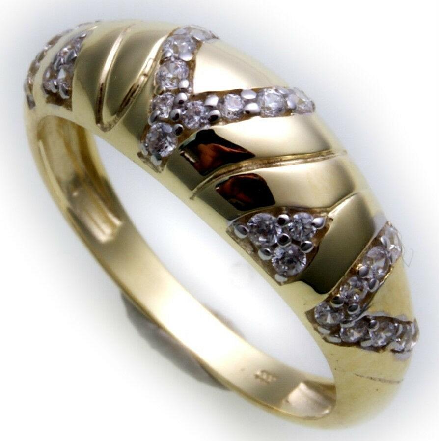 Damen Ring echt Gelbgold 333 8kt Zirkonia Gold Top Qualität Damenring Neu
