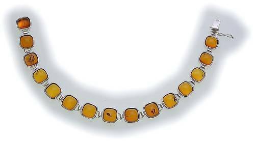 Armband echt Bernstein in Gold 585 Bernsteinarmband Gelbgold Qualität N2993 BE 5