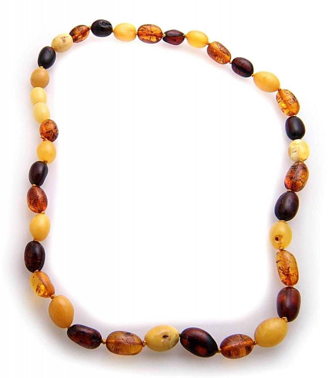 Neu Halskette echter Natur Bernstein aus der Ostsee Collier Unisex Halsschmuck
