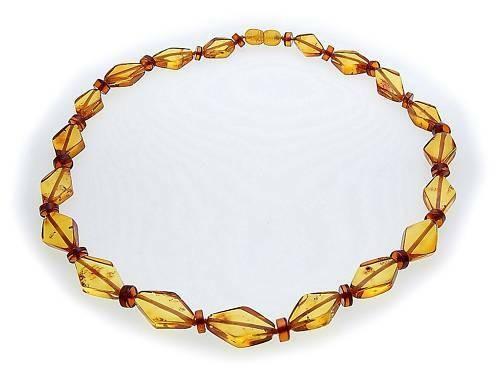 Damen Hals Kette echter Bernstein aus der Ostsee Collier Halskette Qualität AL7