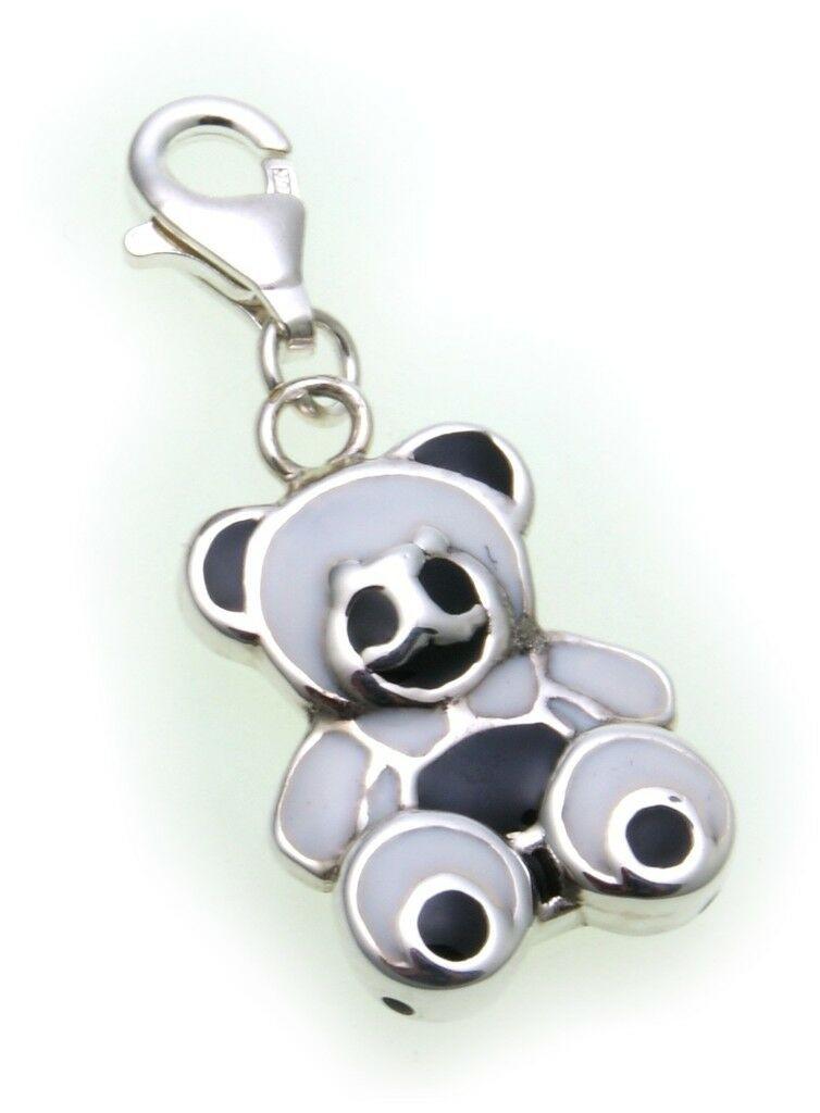 Charm Panda Bär echt Silber 925 Bettelarmband Teddy Sterlingsilber Qualität