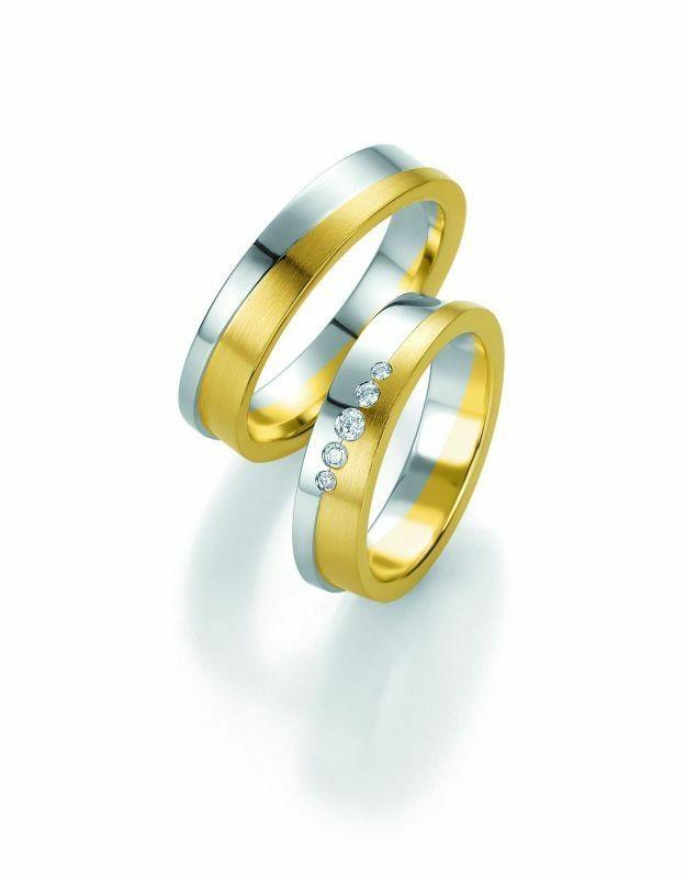 Trauringe Breuning Design Collection 5249/5250 in 585 Gold Bicolor 14 kt