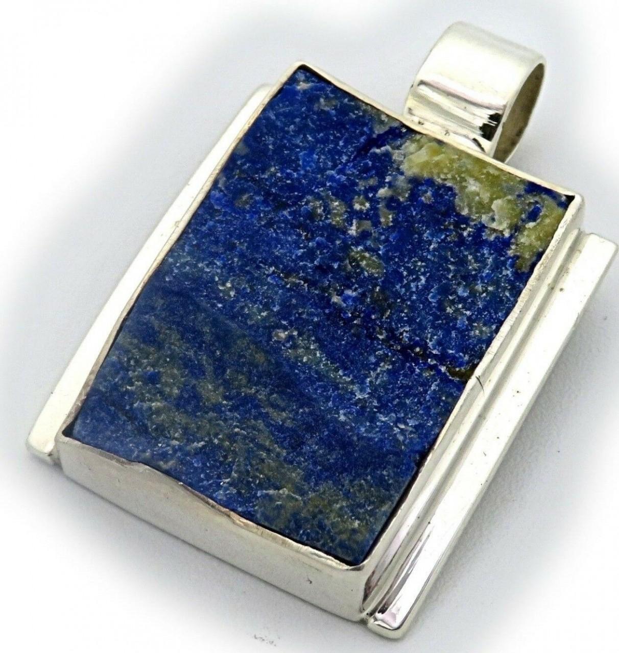 Neu Anhänger Lapis Silber 925 Sterlingsilber Lapis Lazuli Unikat Einzelstück Top