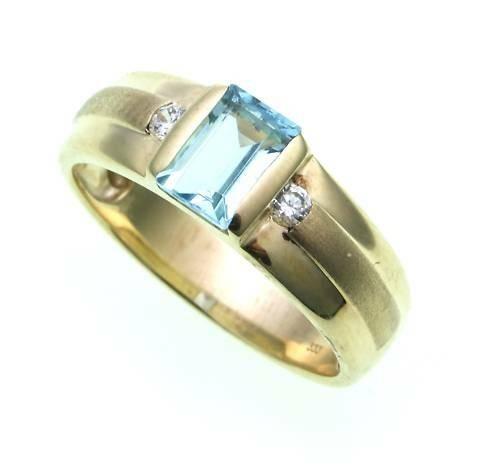 Damen Ring Gold 333 Topas 6x4 mm Zirkonia teilmatt Gelbgold Qualität