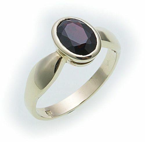 Damen Ring m. Granat in Gold 585 Granatring Gelbgold Qualität 8092/5GR